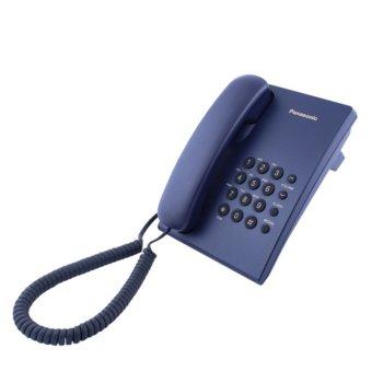Стационарен телефон Panasonic KX-TS500, 1 линия, син image