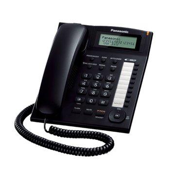Стационарен телефон Panasonic TS 880FX, LCD черно-бял дисплей, черен image