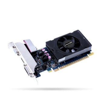 Видео карта Nvidia GeForce GT 730, 2GB, Inno3D GeForce GT 730 2GB GDDR5 LP, PCI-E 3.0, GDDR5, 64bit, HDMI, DVI, VGA image
