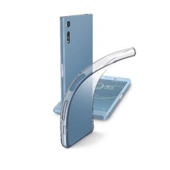 Калъф за Sony Xperia XZ, страничен протектор с гръб, гума, Cellular Line Fine, прозрачен image
