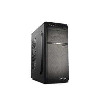 Кутия Delux DW600, ATX/mATX, 2x USB3.0, черна, 450W захранване image