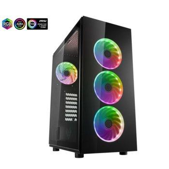 Кутия FSP CMT340, ATX/MicroATX/ITX, 2x USB3.0, Addressable RGB, черна, без захранване image