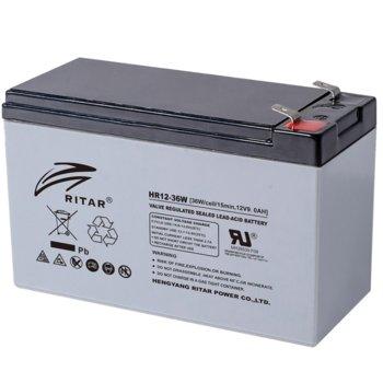 Акумулаторна батерия Ritar Power HR12-36W, 12V, 9Ah, VRLA image