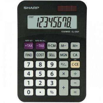 Калкулатор Sharp EL-330F, 8 заряден дисплей, черен image