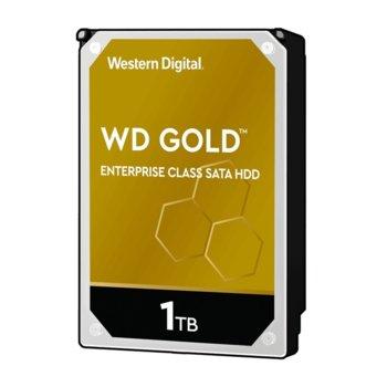 """Твърд диск 1TB WD Gold Enterprise, SATA 6Gb/s, 7200 rpm, 128MB, 3.5""""(8.89 cm) image"""