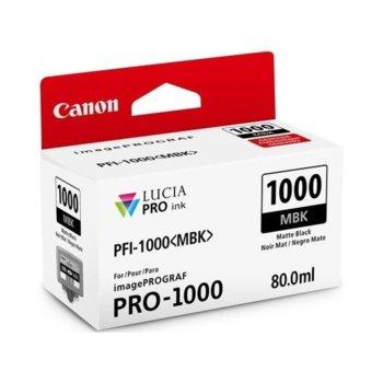 ГЛАВА ЗА Canon imagePROGRAF PRO-1000 - Matte Black - 0545C001AA P№ PFI-1000 - 80ml image