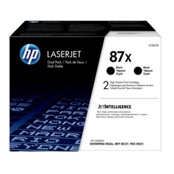 Касета за HP LaserJet Enterprise M506/MFP M527 & LaserJet Pro M501 - Black - 2 Pack - P№ CF287XD - 18 000K image