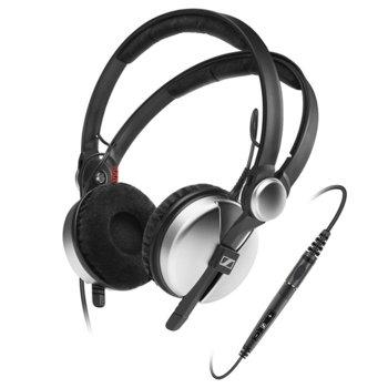 Слушалки Sennheiser Amperior DJ, микрофон, 16Hz-22kНz честотен диапазон, 1.1 м ĸaбeл, сребърни image