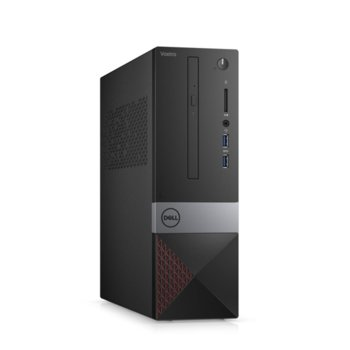 Настолен компютър Dell Vostro 3471 SFF (N206VD3471EMEA01_R2005_22NM_UBU), четириядрен Coffee Lake Intel Core i3-9100 3.6/4.2 GHz, 4GB DDR4, 1TB HDD, 2x USB 3.1, клавиатура и мишка, Linux image