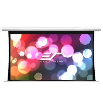 """Екран Elite Screens Saker Tension SKT110XHW-E12, за стена, White, 2438 x 1372 мм, 110"""" (279.4 cm), 16:9 image"""