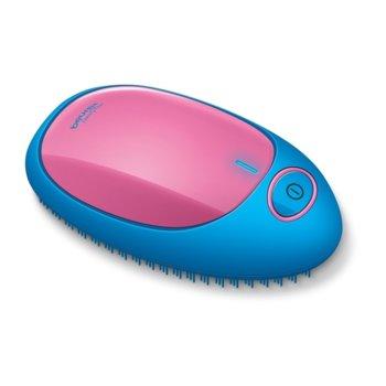 Електрическа четка за коса Beurer HT 10, йонизираща функция, 2x AAA, синя/розова image