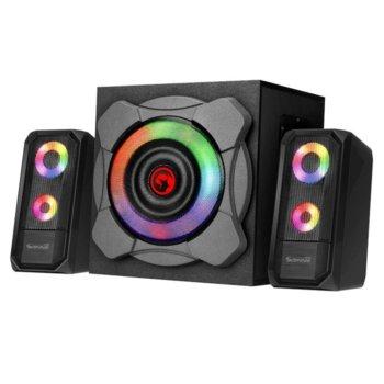 Тонколони Marvo Gaming Speakers 2.1 24W Bluetooth RGB, 2.1, 24W, AUX, Wi-Fi, RGB, черни image