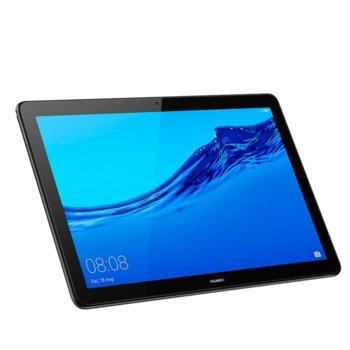 "Таблет Huawei MediaPad T5 AGS2-L09 (6901443250448)(черен), LTE, 10.1"" (25.65 cm) Full HD дисплей, осемядрен Kirin 659 (4x2.36 GHz Cortex-A53 & 4x1.7 GHz Cortex-A53), 3GB RAM, 32GB Flash памет (+ microSD слот), 5.0 & 2.0 Mpix, Android 8.0, 460g image"