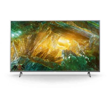"""Телевизор Sony KD-49XH8077, 49"""" (124.46 cm) LED, 4K Ultra HD Smart, DVB-C/T/T2/S/S2, Wi-Fi, LAN, 4x HDMI, 2x USB, енергиен клас G image"""