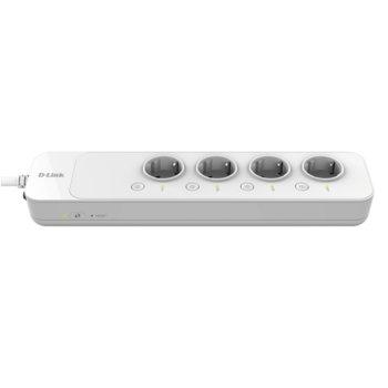 Разклонител D-Link DSP-W245, Wi-Fi Smart Power Strip, 4 гнезда, защита от прегряване и претоварване, 1.5 m, бял image