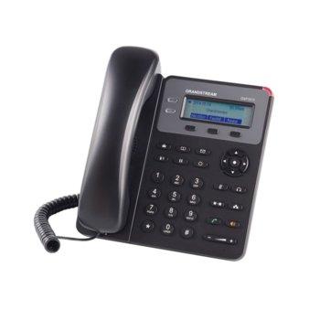 "VoIP телефон Grandstream GXP1615, 2.95""(7.493cm) LCD дисплей, 1 линия, 2x LAN10/100, PoE, монтаж на стена, черен image"