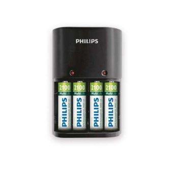 Зарядно у-во Philips за батерии  1/4 x AA/AAA, 170/80 mA, 220/240V, с включени батерии 4 x AA 2100mA image