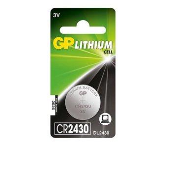 Батерия литиева GP CR-2430, 3V, 610mAh, бутонна, 1 брой image