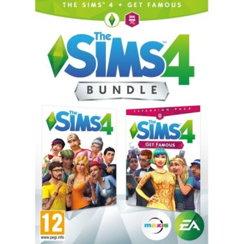 Игра The Sims 4 + Get Famous Expansion Pack Bundle, за PC image