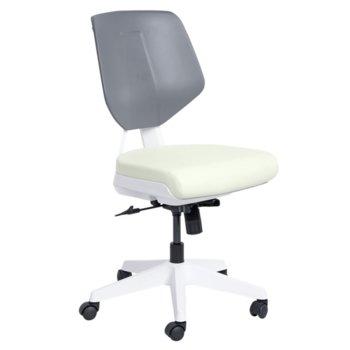 Работен стол Carmen SMART, Еко кожа, до 100 кг., ванилия image