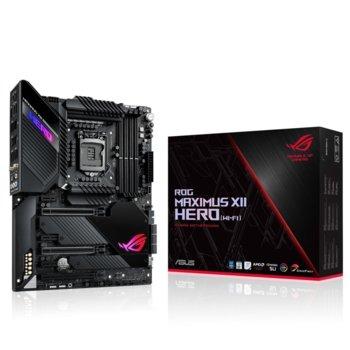 Дънна платка Asus ROG MAXIMUS XII HERO (Wi-Fi), Z490, LGA1200, DDR4, PCI-E 3.0, (HDMI)(SLI&CFX), 6x SATA 6Gb/s, 2x M.2 Socket, 1x USB 3.2 Gen2 Type-C, Wi-Fi. Bluetooth, ATX image