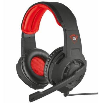 Слушалки Trust GXT 310, микрофон, 3.5 mm jack, съвместими с PS4/Xbox One/Nintendo Switch, черни image