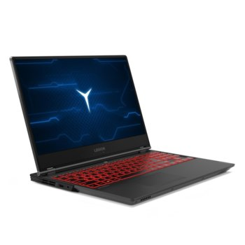 "Лаптоп Lenovo Legion Y7000 (81NS005MBM), шестядрен Coffee Lake Intel Core i7-9750HF 2.6/4.5 GHz, 15.6"" (39.62 cm) Full HD IPS Anti-Glare Display & GTX 1660 Ti 6GB, (mDP), 16GB DDR4, 1TB SSD, 1x USB-C, Free DOS image"