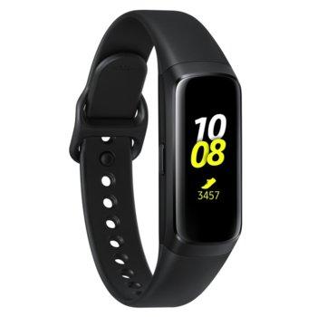 Смарт гривна Samsung SM-R370N Galaxy Fit, акселерометър, Gyro, HRM, Bluetooth, Wi-Fi, за Android, черна image