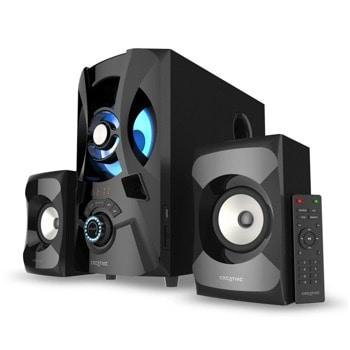 Тонколони Creative SBS E2900, 2.1, 60W (15W + 15W + 30W), Bluetooth 5.0, FM, AUX, USB, SD слот, дистанционно, черни image
