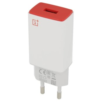 Зарядно устройство OnePlus Wall Charger AY0520, от контакт към USB A(ж), 2A, бяло, bulk image