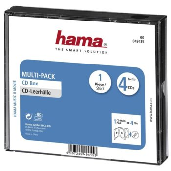 Кутия за CD/DVD HAMA Multi-Pack 4 49415, 4бр image