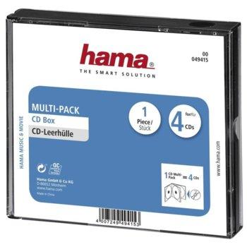 Кутия за CD/DVD HAMA Multi-Pack 4 49415, 4бр image