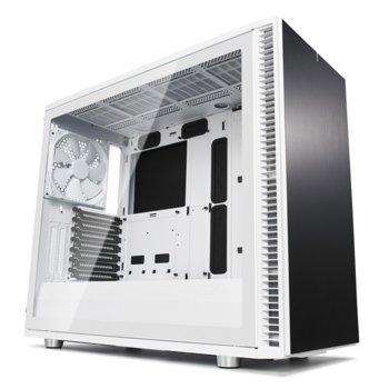 Кутия Fractal Design Define S2 White – TG, mATX, ATX, ITX, EATX, USB 3.1 Gen 2 Type-C, черна, без захранване image