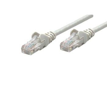 Пач кабел Intellinet, UTP, Cat.6, 0,25m, сив image