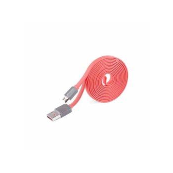 Кабел Yoobao, от USB A(м) към USB micro B(5-pin)(м), 1.5m, розов image