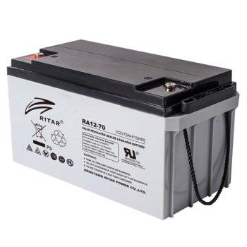 Акумулаторна батерия Ritar Power RA12-70, 12V, 70Ah, AGM image