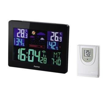 Електронна метеостанция Hama EWS-1400, термометър, аларма, хигрометър, черна image