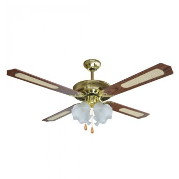 Вентилатор за таван с лампа SAPIR SP 1760 4C4L, 132 см, 3 степени, 70W, кафяв image