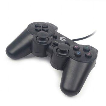 Геймпад Gembird JPD-UDV-01, USB, черен image