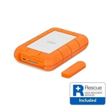 """Твърд диск Lacie 4TB Rugged (оранжев), външен, 2.5"""" (6.35 cm), USB-C image"""