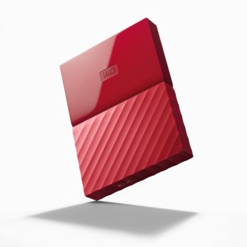"""Твърд диск 4TB Western Digital MyPassport, външен, 2.5""""(6.35cm), USB 3.0, червен image"""