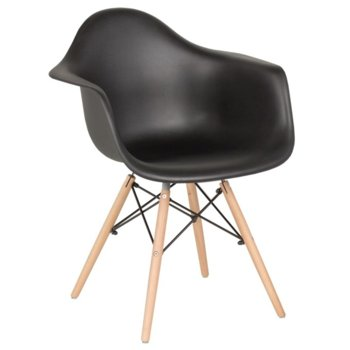 Трапезен стол Carmen 9959, полипропилен, черен image
