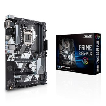 Дънна платка ASUS PRIME B365-PLUS, B365, LGA1151, DDR4, PCI-E (HDMI&DVI&VGA), 6x SATA 6Gb/s, 1x M.2 Socket, 4 x USB 3.1 (Gen 1), ATX image