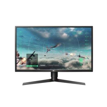 """Монитор LG 27GK750F-B, 27"""" (68.58 cm) TN панел, Full HD, 2ms, 5 000 000:1, 400 cd/m2, Display port, HDMI, USB 3.0  image"""
