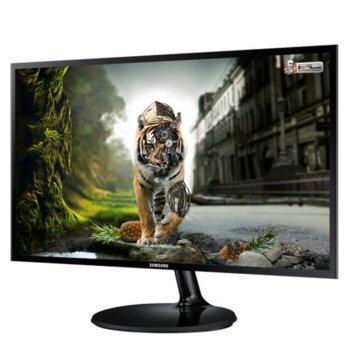 """Монитор Samsung S27F350F (LS27F350FHUXEN), 27"""" (68.58 cm), PLS панел, Full HD, 4ms, MEGA, 250cd/m2, HDMI, VGA image"""