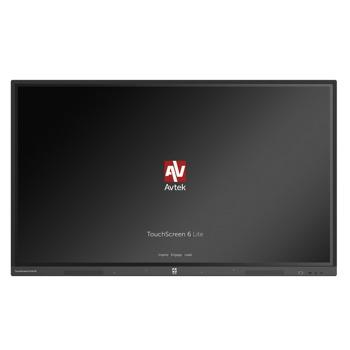 "Интерактивен дисплей Avtek Touchscreen 6 Lite, 65"" (165.1 cm) 4K/UHD LED сензорен дисплей, HDMI, VGA, LAN, USB image"