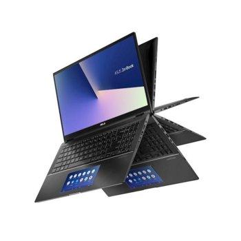 """Лаптоп Asus Zenbook Flip 14 UX563FDC-WB711R (90NB0NY1-M01370)(сив), четириядрен Comet Lake Intel Core i7-10510U 1.8/4.9 GHz, 14.0"""" (35.56 cm) Full HD Touchscreen Glare Display & GF MX250 2GB, (HDMI), 16GB, 512GB SSD, Windows 10  image"""