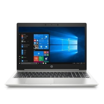 "Лаптоп HP ProBook 450 G7 (9TV47EA)(сребрист), четириядрен Comet Lake Intel Core i5-10210U 1.6/4.2 GHz, 15.6"" (39.62 cm) Full HD IPS Anti-Glare Display, (HDMI), 8GB DDR4, 256G SSD, 1x USB 3.1 Type-C, Windows 10 Pro  image"
