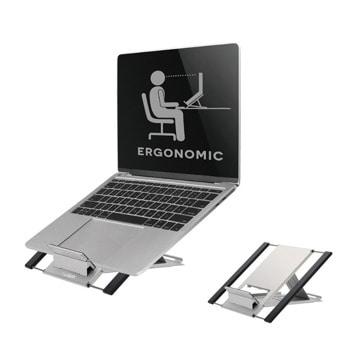 """Стойка за лаптоп NewStar NSLS100, от 10"""" до 22"""", регулируема височина, сгъваема, до 5кг., сребриста image"""