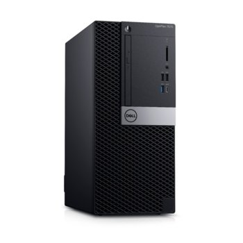 Настолен компютър Dell OptiPlex 7071 MT (#DELL02614), осемядрен Coffee Lake Intel Core i7-9700 3.0/4.7 GHz, Nvidia GeForce GTX 1660 6GB, 16GB DDR4, 256GB SSD & 1TB HDD, 1x USB 3.1 Gen 2 Type-C, клавиатура и мишка, Windows 10 Pro image